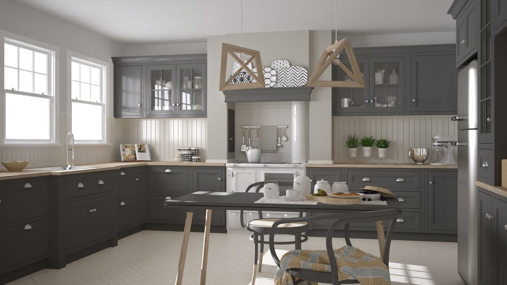 Wood and Gray kitchen cabinet ideas