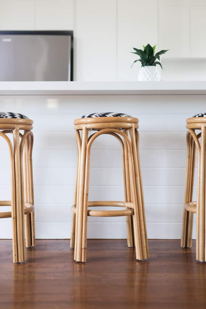 Wooden Barstools coastal kitchen ideas