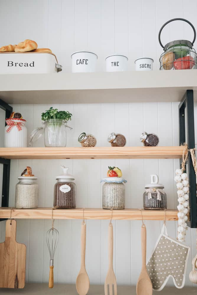 kitchen Shelves with Hooks