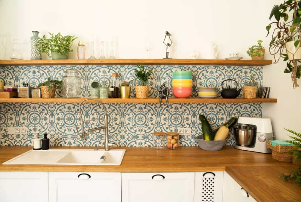 Backsplash Shelves kitchen storage ideas