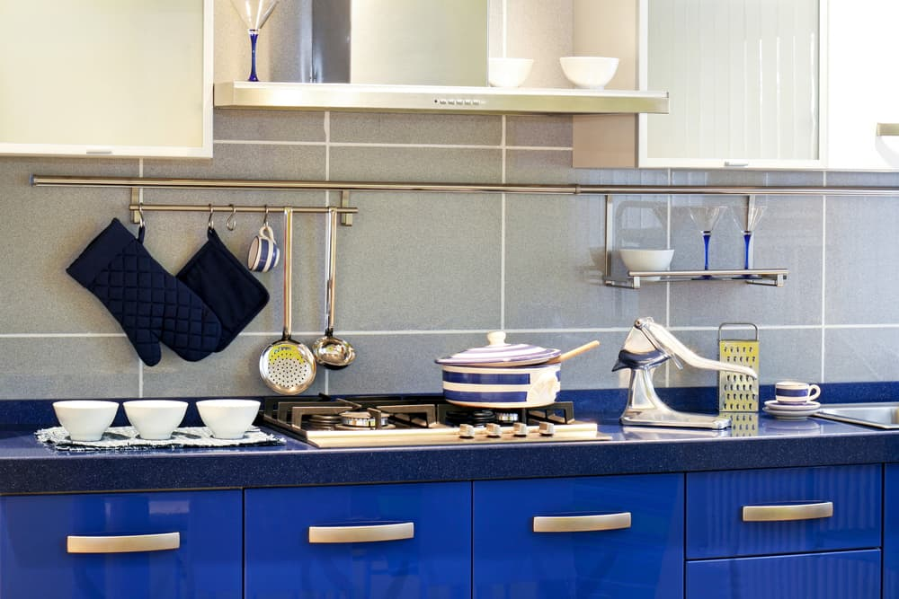 Blue on Blue kitchen countertop design ideas