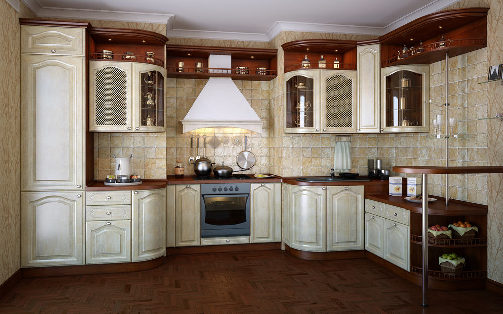 Classic White and Cathedral Paneling kitchen cabinet refacing ideas
