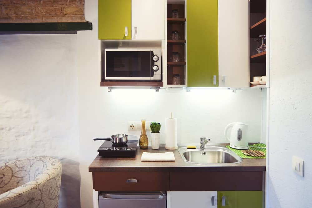 Create Vertical Lines tiny house kitchen ideas