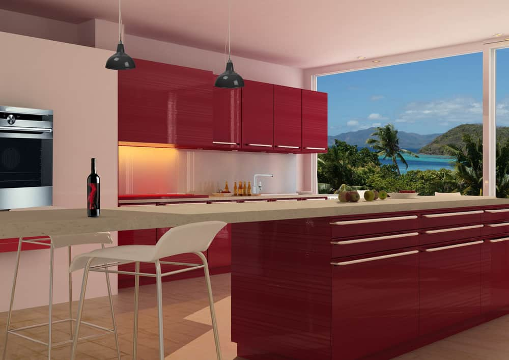 Deep Red Kitchen red kitchen ideas