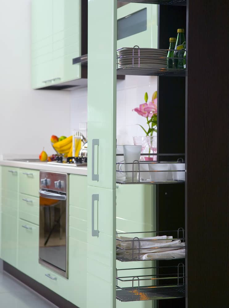 Floor to Ceiling Pull Out kitchen storage ideas