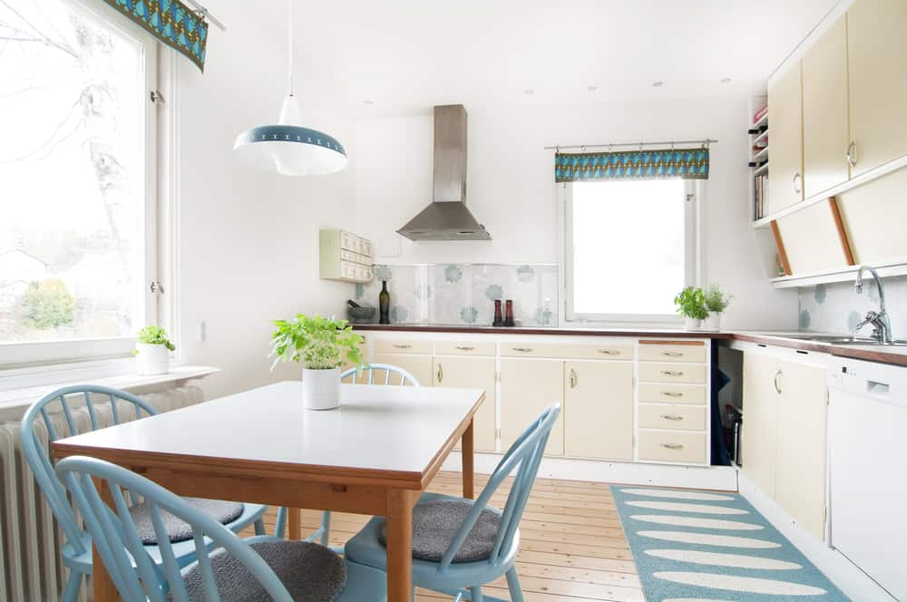 Geometric Patterns and Hints of Blue retro kitchen ideas