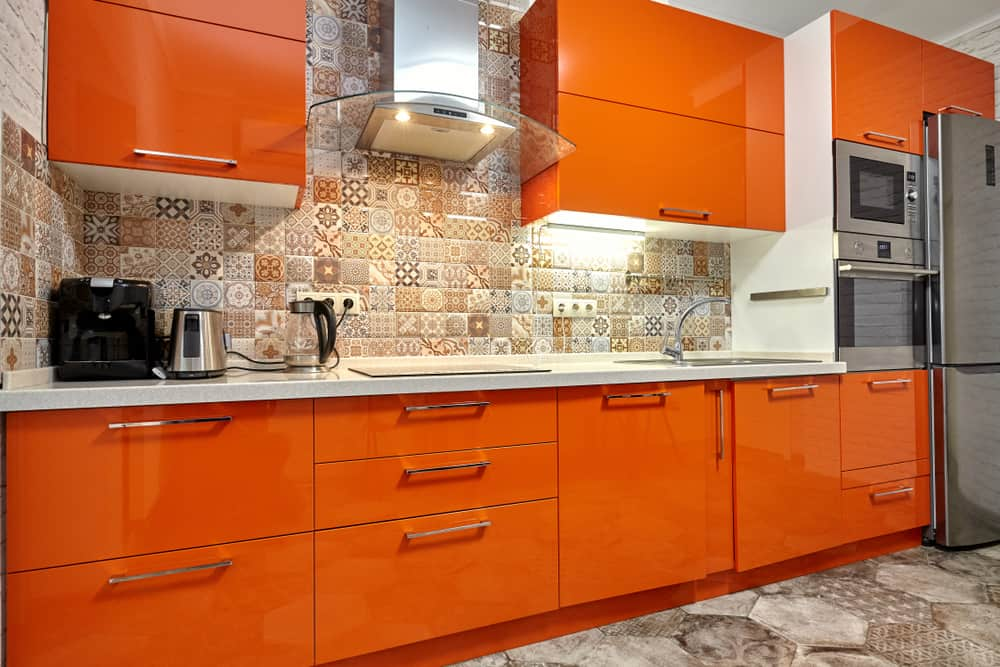 Glossy One-color Scheme kitchen cabinet refacing ideas