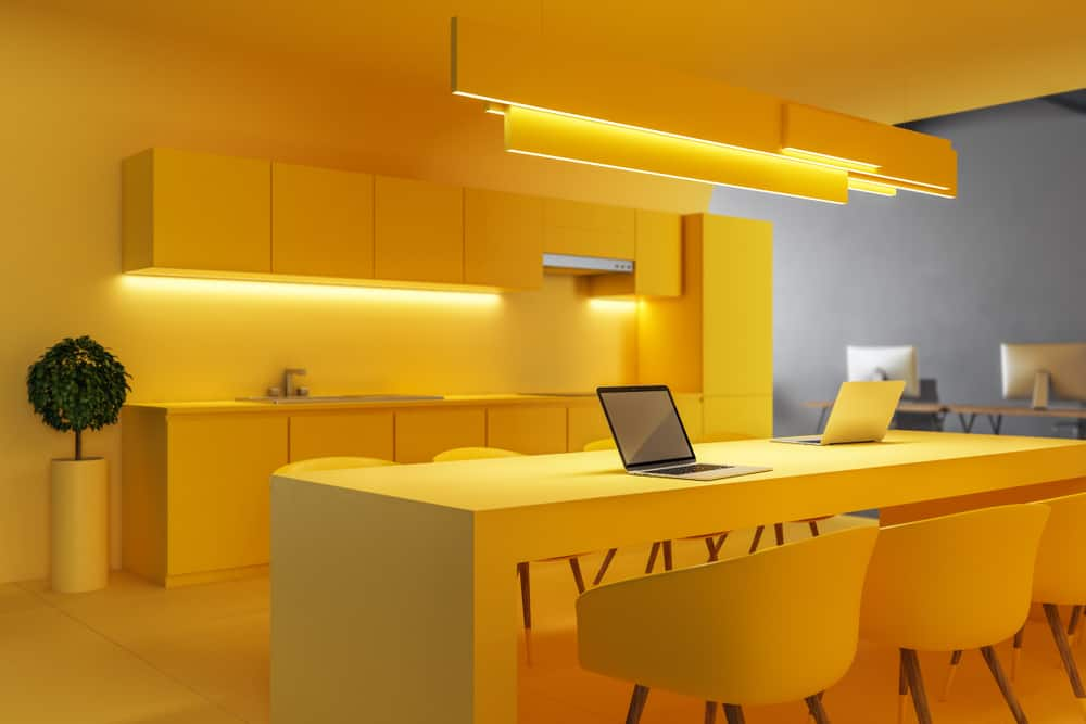 Go All-Out Yellow yellow kitchen ideas