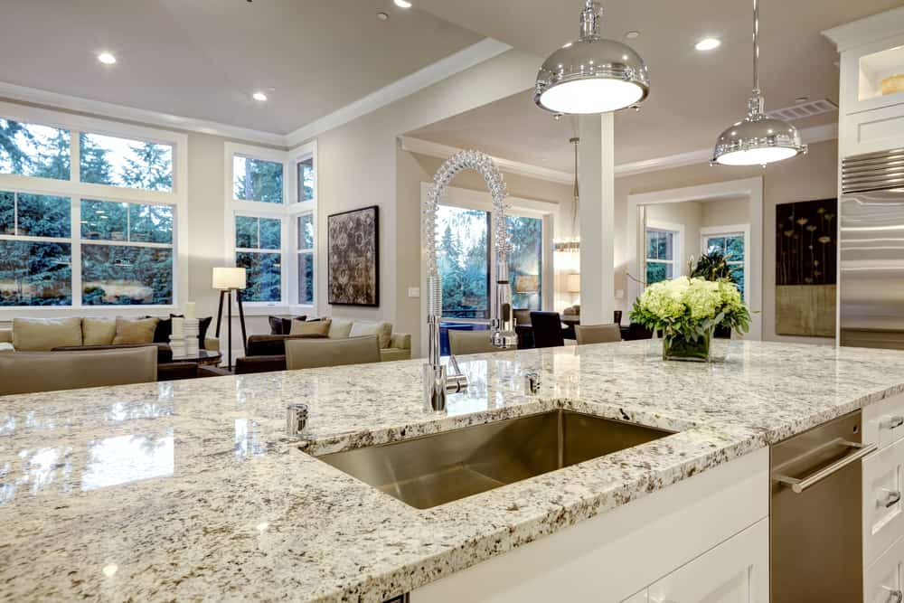 Granite Slab Countertop kitchen counter ideas