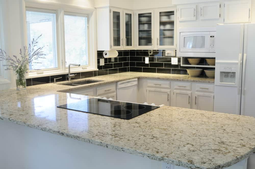 Granite kitchen countertop material