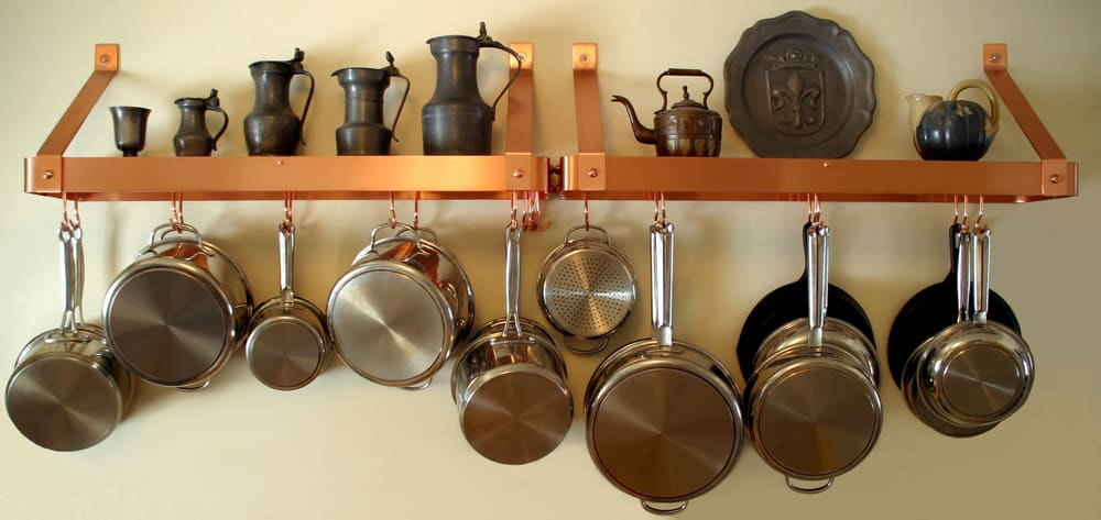 Hanging Pots and Pans kitchen storage ideas