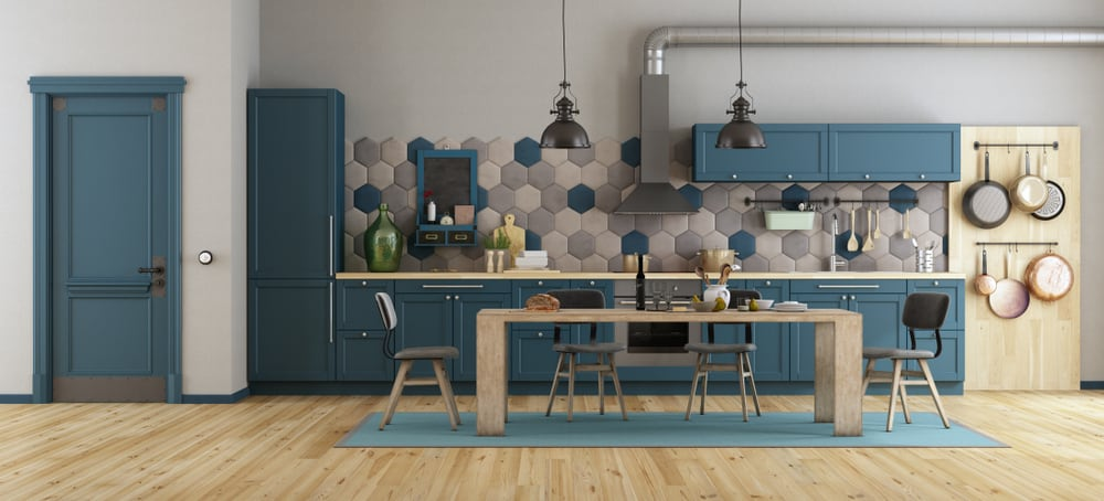 Hexagonal Tiles retro kitchen ideas