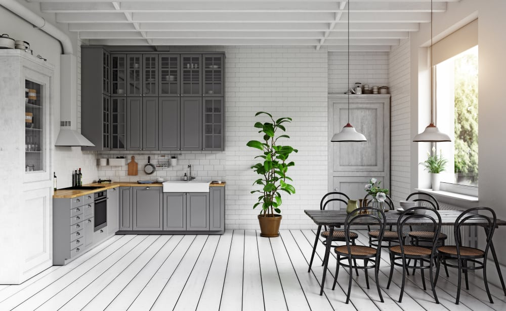 Industrial Monochrome retro kitchen ideas
