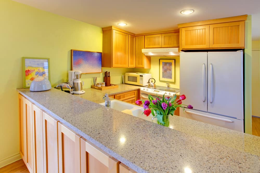 Lemon Yellow for the Contemporary yellow kitchen ideas
