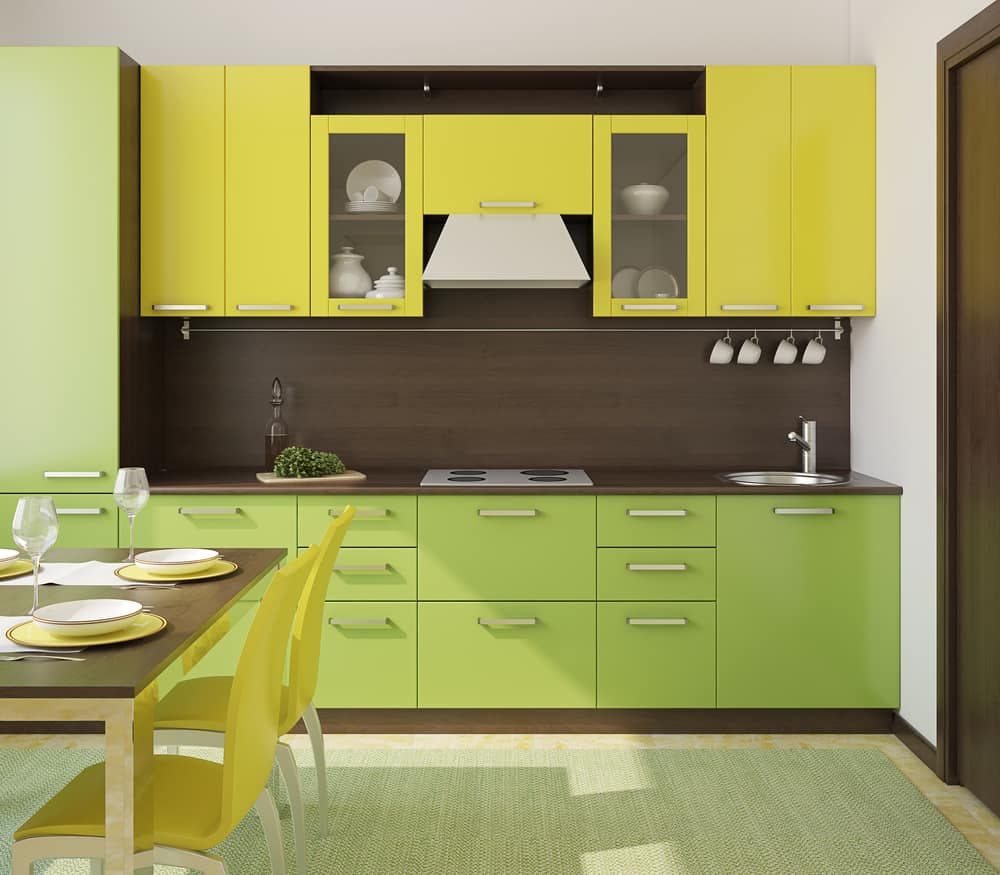 Mangoes and Avocadoes yellow kitchen ideas