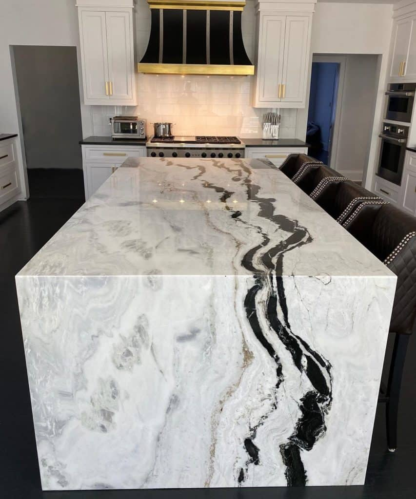 Marble kitchen countertop material