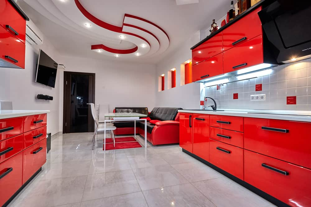 Moving with Red retro kitchen ideas