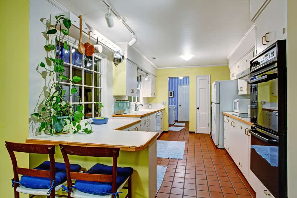 Old Charm with Yellow and Blues yellow kitchen ideas