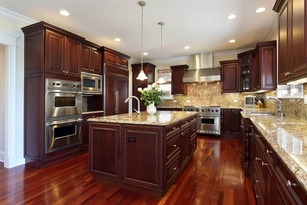 Opulent Cherry Wood kitchen cabinet refacing ideas