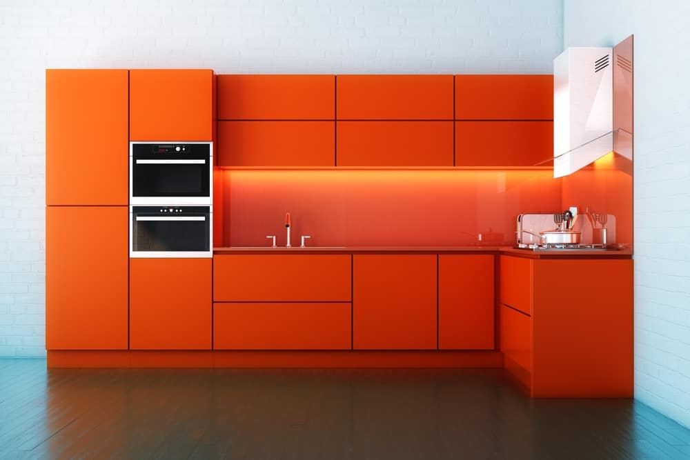 Orange-Red Kitchen red kitchen ideas