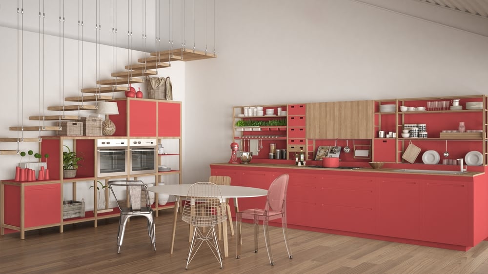 Pink Pastel retro kitchen ideas