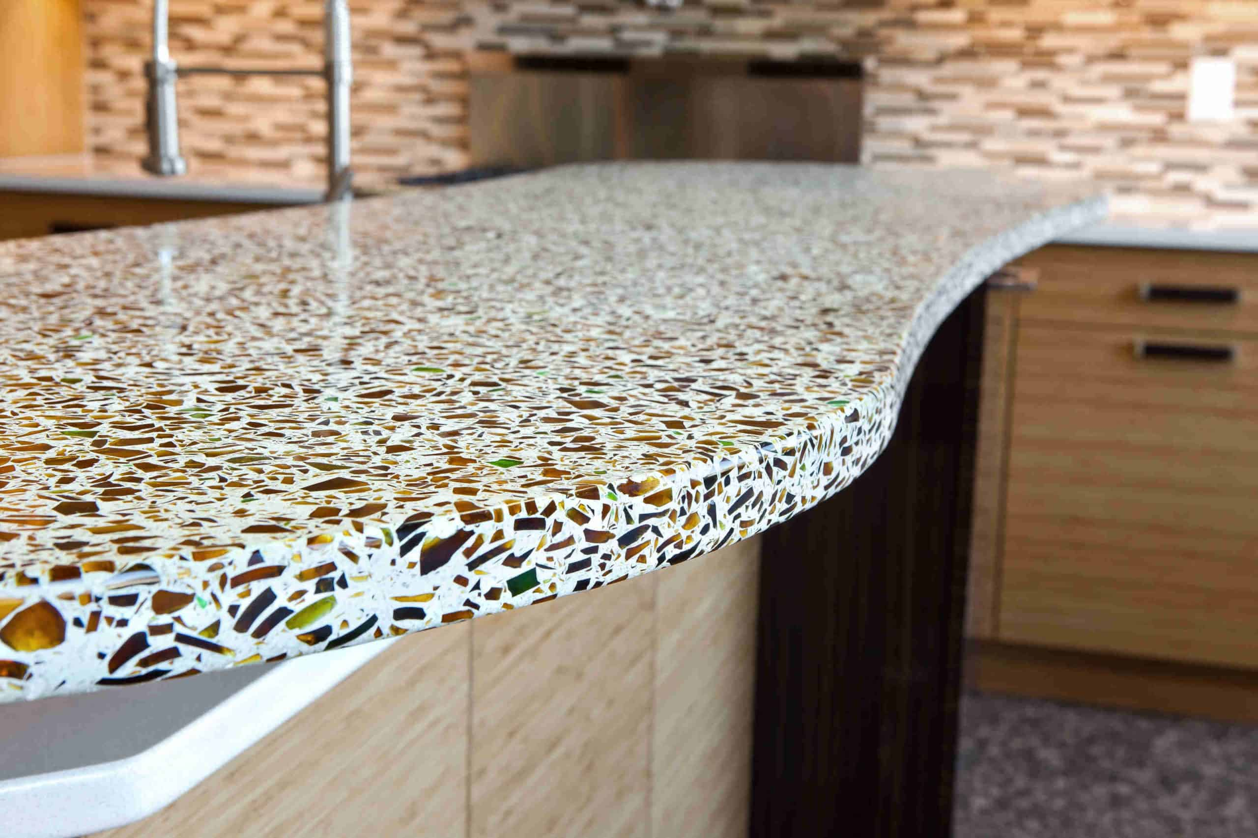 Recycled Glass Countertop kitchen counter ideas