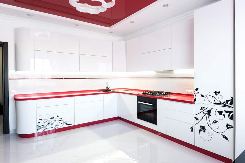 Red Countertop red kitchen ideas