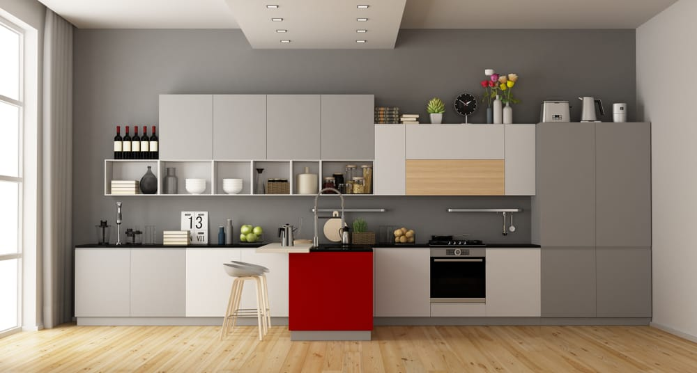 Red Kitchen Island red kitchen ideas