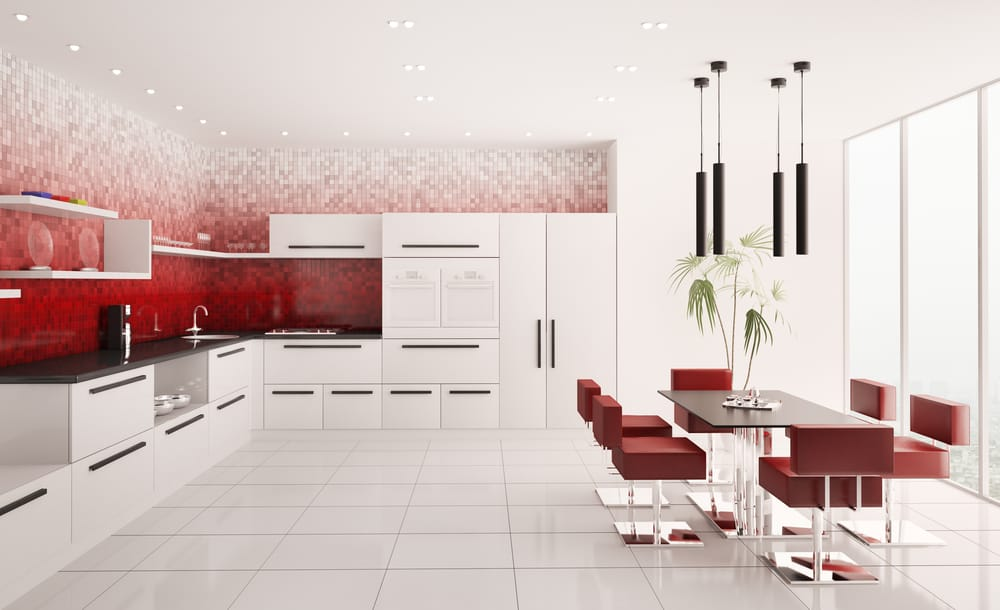 Red Ombre Walls red kitchen ideas