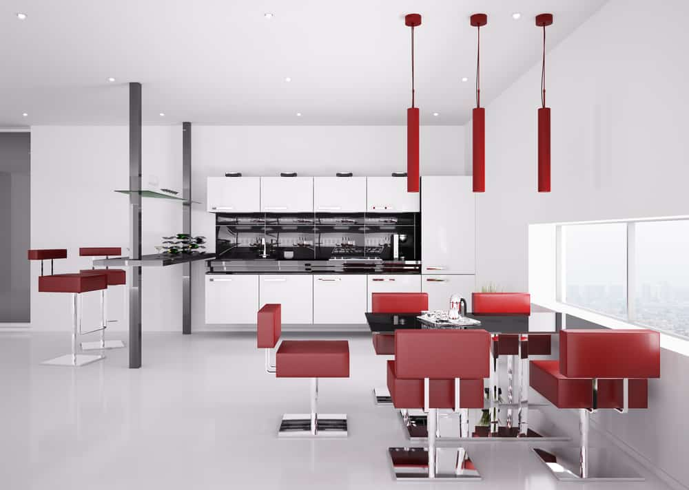 Red Stools red kitchen ideas
