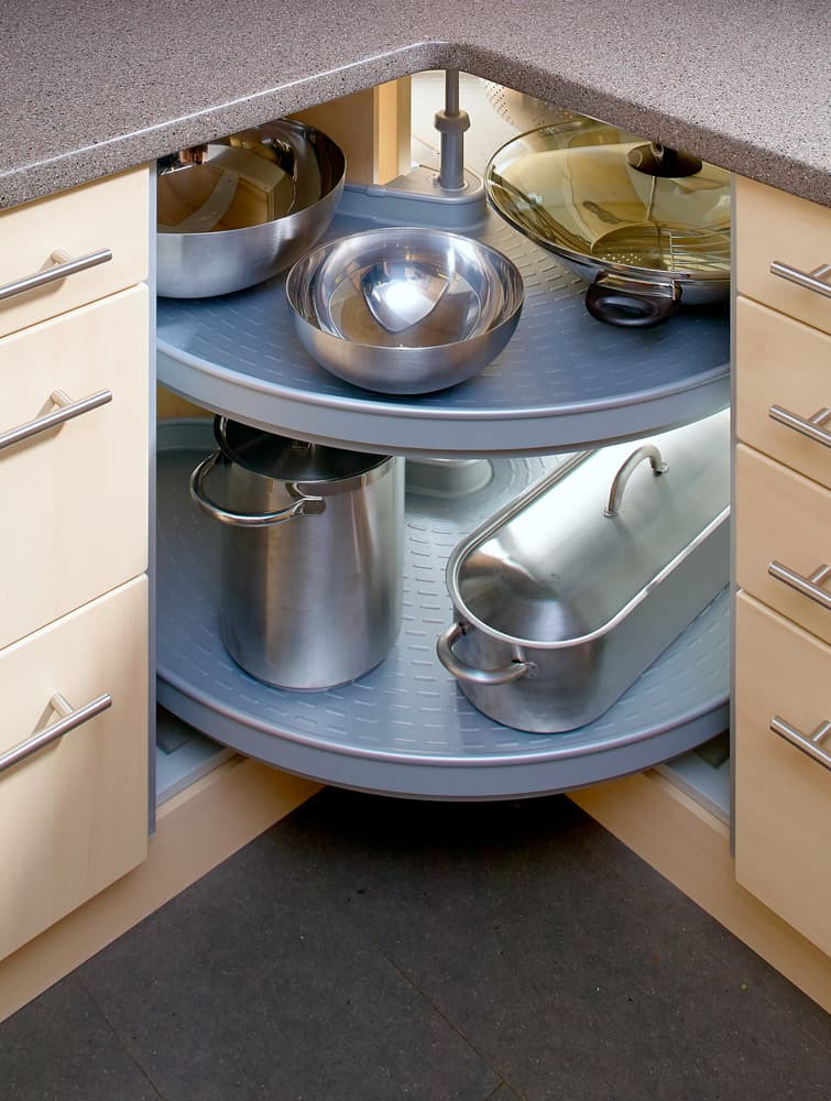 Rotating Corner Cupboard kitchen storage ideas