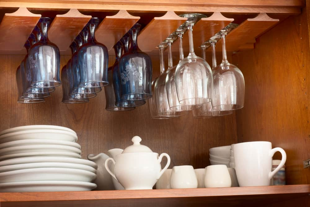 Sneak in the Wine Glasses kitchen storage ideas