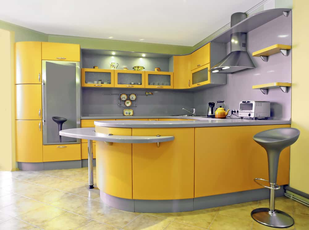 Soften the Look of Gray and Cold yellow kitchen ideas