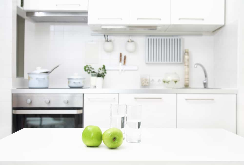 The All-White Kitchen Countertop kitchen counter ideas