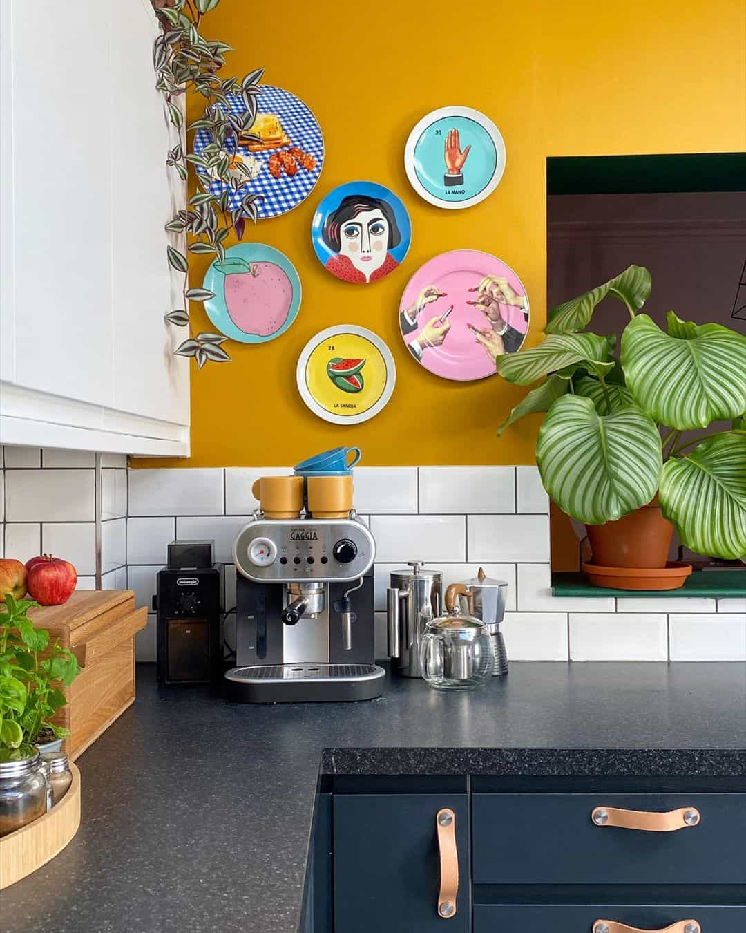 Use Your Yellow Wall as a Display Gallery yellow kitchen ideas