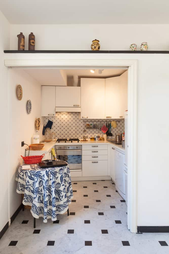 Wallpaper tiny house kitchen ideas