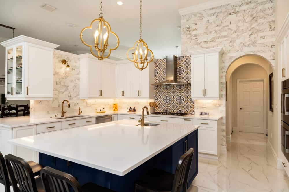 White Elegance kitchen countertop design ideas