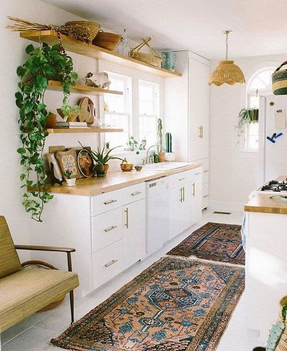 Wicker Baskets tiny house kitchen ideas