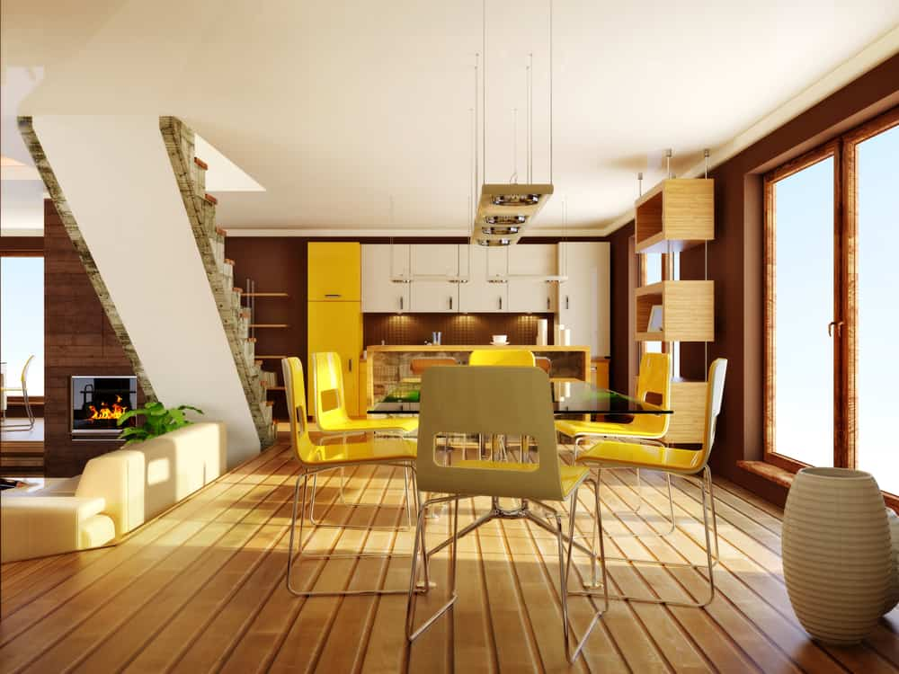 Yellow Goes Together with Brown Hues yellow kitchen ideas