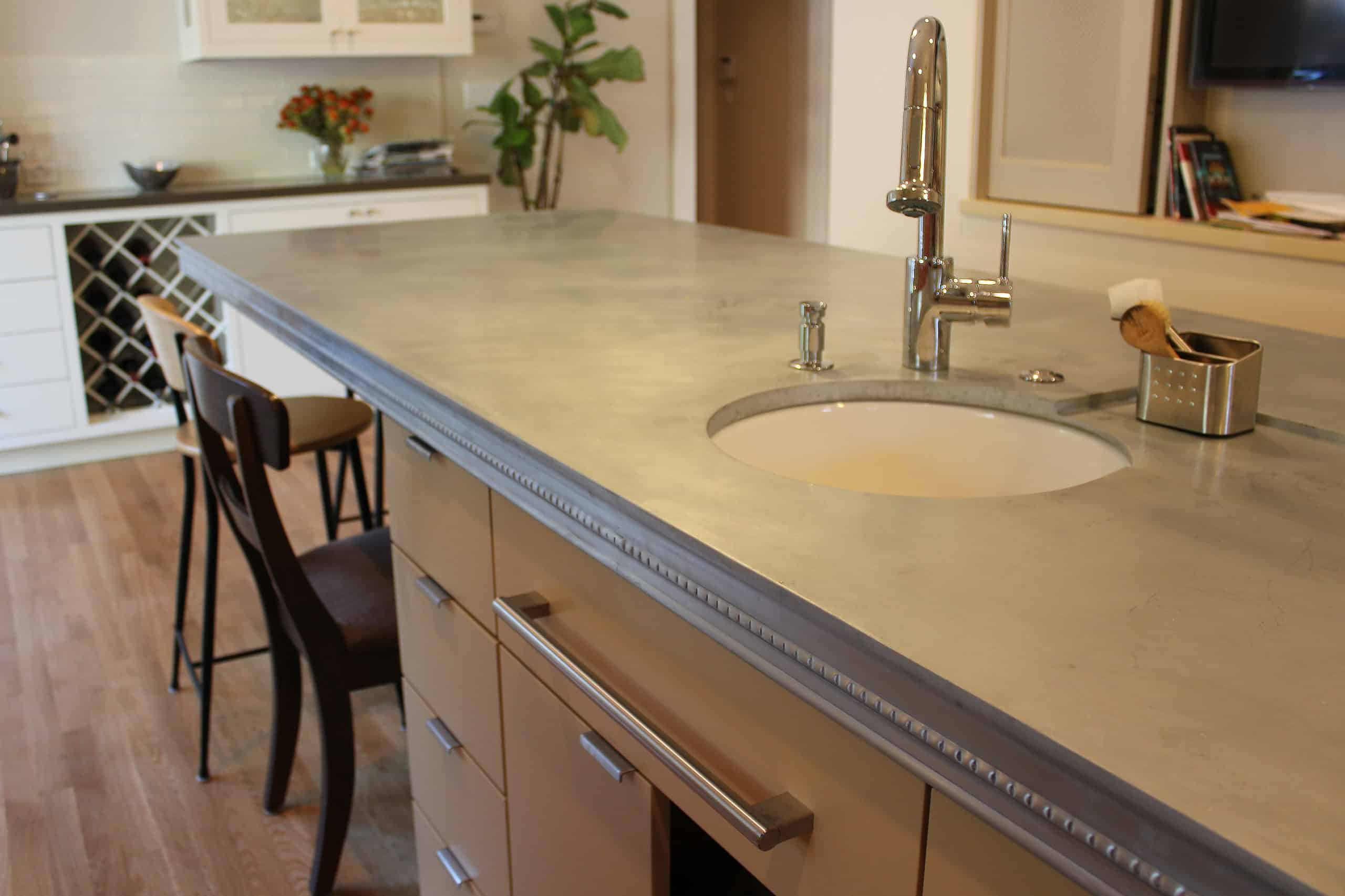 Zinc Countertop kitchen counter ideas