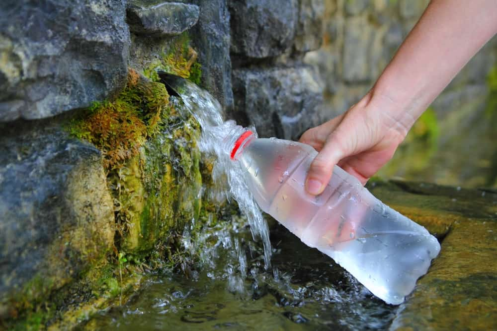 purified or spring water